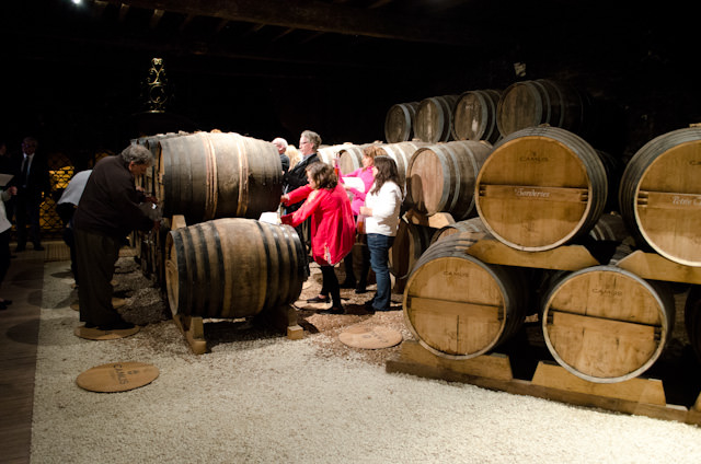 Touring the CAMUS facility in Cognac, France. Photo © 2014 Aaron Saunders