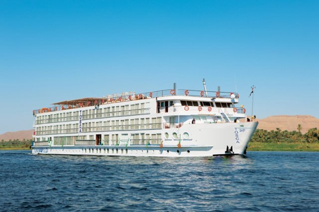 A refurbished River Tosca will re-enter service in Egypt for Uniworld in September, 2015. Photo courtesy of Uniworld Boutique River Cruise Collection