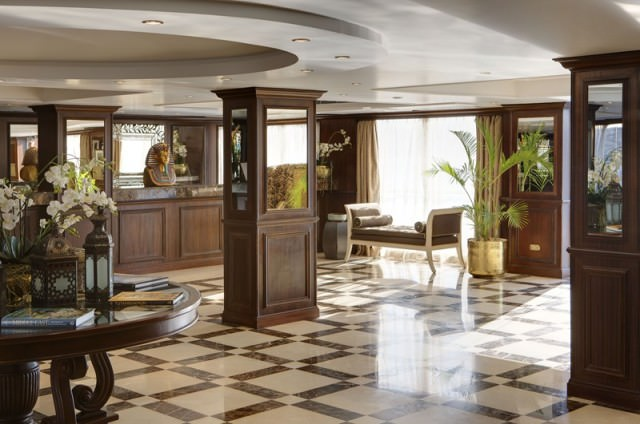 River Tosca's Reception Lobby. Photo courtesy of Uniworld Boutique River Cruise Collection