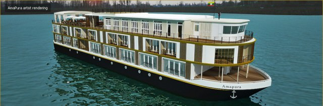 AmaWaterways' new AmaPura will sail through mysterious Burma. Illustration courtesy of AmaWaterways
