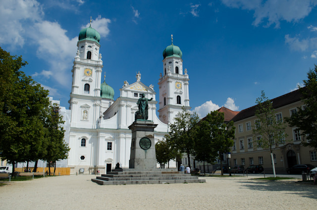 Passau's St. Stephen's Cathedral, also simply known as the Dom, has the largest cathedral organ in the world, with 17,774 pipes. Photo © 2014 Aaron Saunders