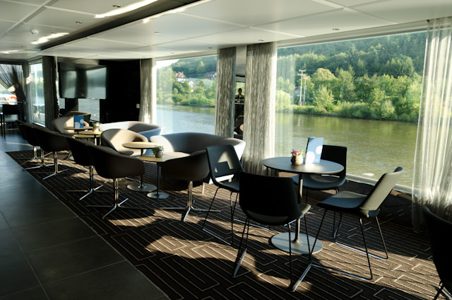 The Horizon Lounge: the place to be for scenic morning cruising. Photo © 2014 Aaron Saunders
