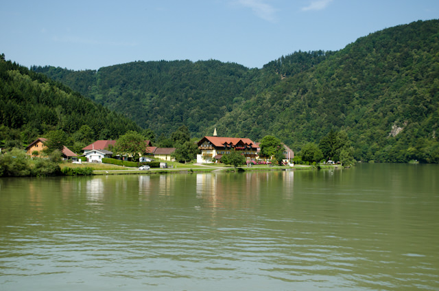 Setting sail along the Danube for a morning of scenic cruising! Photo © 2014 Aaron Saunders