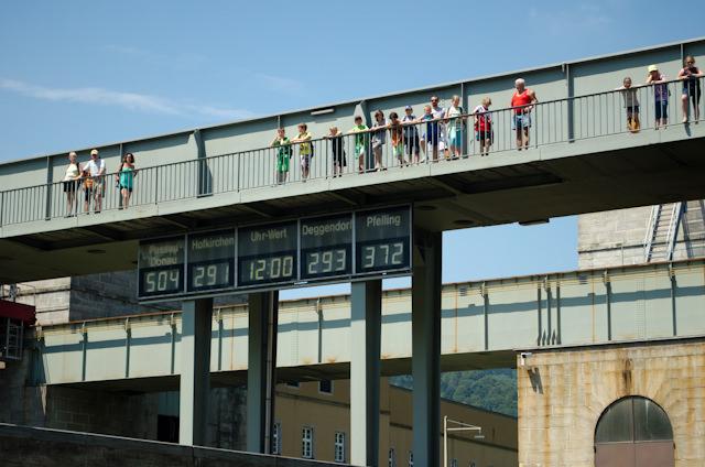Onlookers watch our progress through the locks. Photo © 2014 Aaron Saunders