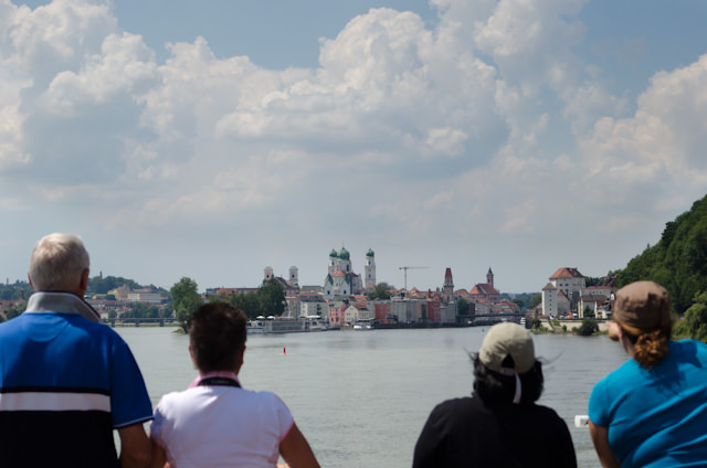 Sailing into Passau, Germany! Photo © 2014 Aaron Saunders
