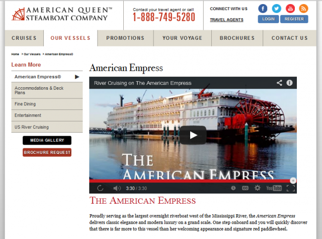 The American Queen Steamboat Company has quietly unveiled a brand-new website design.