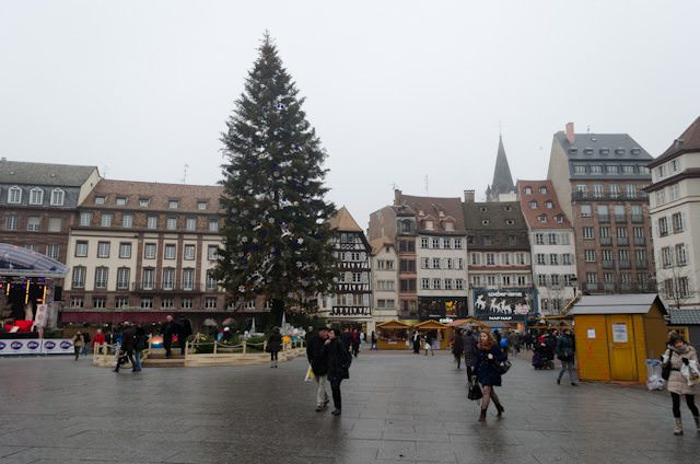 The annual Christmas Tree in Strasbourg, France is an attraction in and of itself. CroisiEurope is based in Strasbourg. Photo © 2013 Aaron Saunders