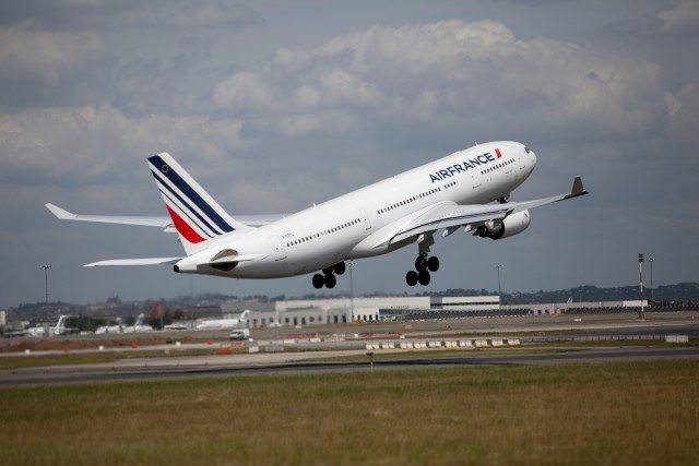 An Air France Airbus A330 takes to the skies. Photo courtesy of Air France.
