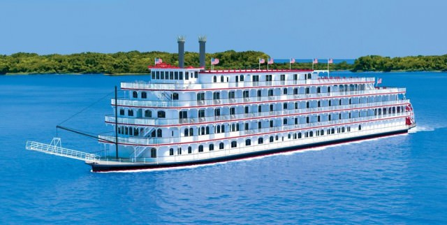 The new American Eagle will launch in March, 2015. Rendering courtesy of American Cruise Lines.