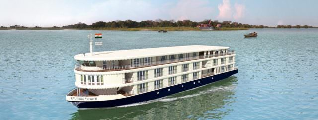 Uniworld's first foray into India will take place aboard the new Ganges Voyager II. Illustration courtesy of Uniworld Boutique River Cruise Collection