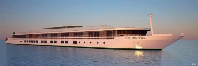 Elbe Princesse will launch in the spring of 2016. Illustration courtesy of CroisiEurope.