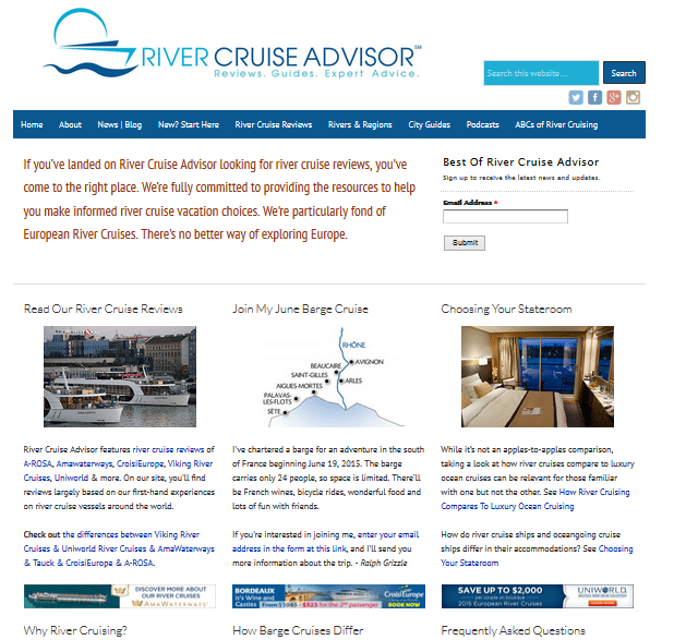 We've given the River Cruise Advisor homepage a new look!