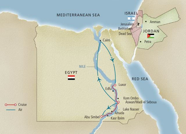 Viking River Cruises has resumed river cruises through Egypt, effective this month. Illustration courtesy of Viking River Cruises.