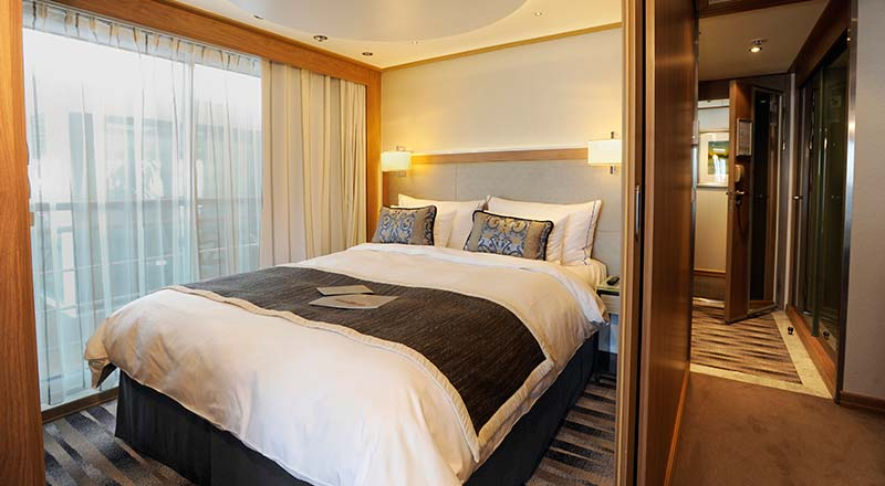 Viking's Explorer Suites are the most spacious on the waterways of Europe. Photo courtesy of Viking River Cruises