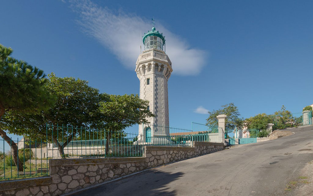 """""""Phare du Mont-Saint-Clair, Sète, Hérault 06"""" by Christian Ferrer. Licensed under CC BY-SA 3.0 via Wikimedia Commons - http://commons.wikimedia.org/wiki/File:Phare_du_Mont-Saint-Clair,_S%C3%A8te,_H%C3%A9rault_06.jpg#/media/File:Phare_du_Mont-Saint-Clair,_S%C3%A8te,_H%C3%A9rault_06.jpg"""