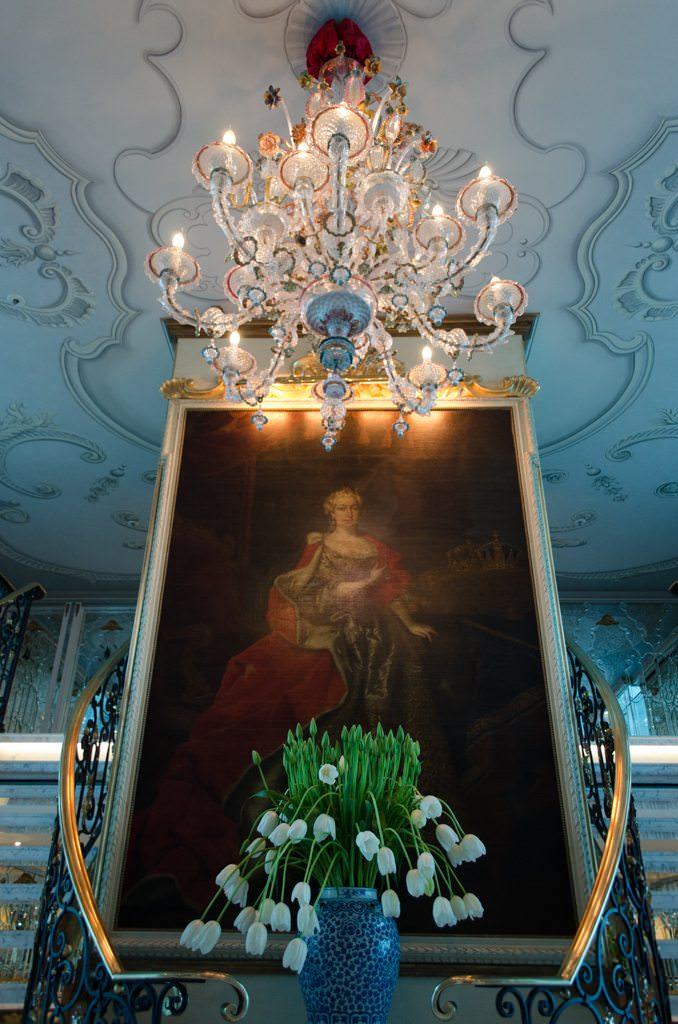 The striking Lobby aboard S.S. Maria Theresa... Photo © 2015 Aaron Saunders