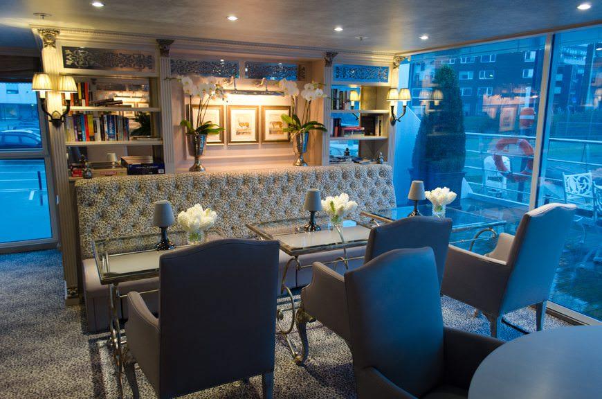 My Favorite Spot Onboard: the Bar du Lepoard aboard S.S. Maria Theresa. Photo © 2015 Aaron Saunders