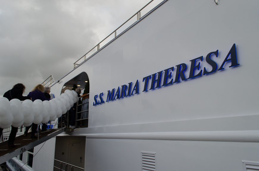 Re-boarding the gorgeous S.S. Maria Theresa in Amsterdam. Photo © 2015 Aaron Saunders