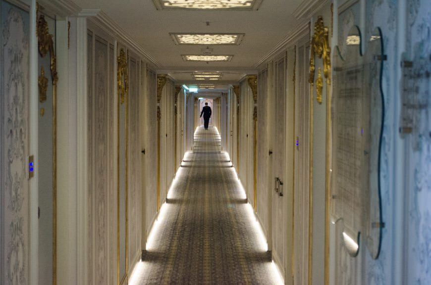 Walking the Deck 2 Corridor aboard the S.S. Maria Theresa. Photo © 2015 Aaron Saunders