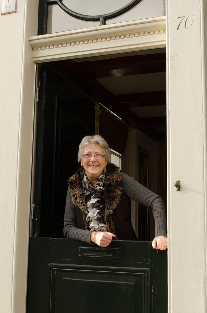 Our second host, leaning out from her Dutch Door...Photo © 2015 Aaron Saunders