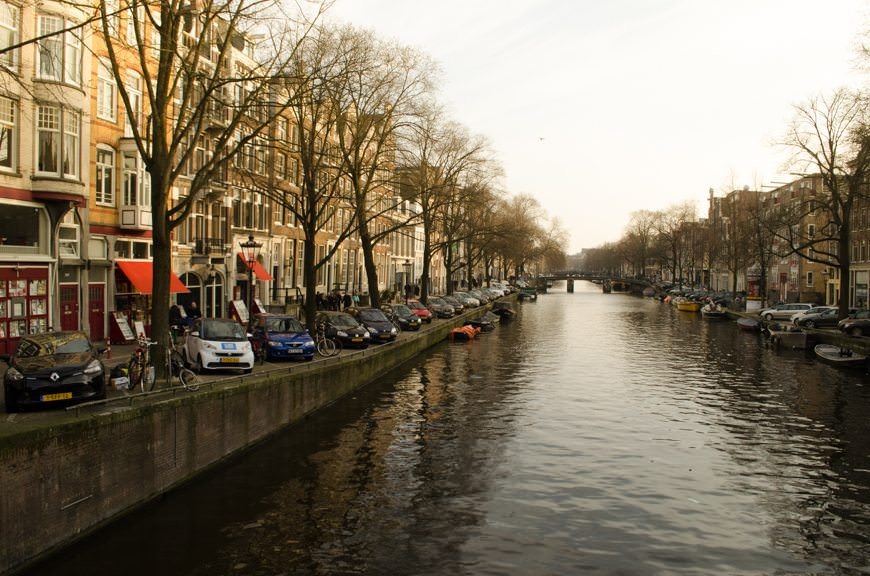 ...on a gorgeous, Canal-lined street. Photo © 2015 Aaron Saunders
