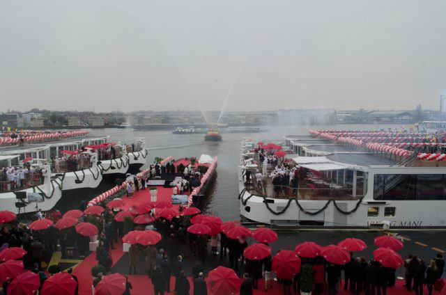 The deed is done! The Viking River Cruises fleet now officially sits at 60 vessels - with more on the way. Photo © 2015 Aaron Saunders
