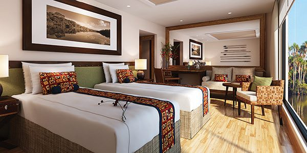 Even the most 'basic' staterooms aboard the Amazon Discovery will be spacious and luxurious. Courtesy of Avalon Waterways.