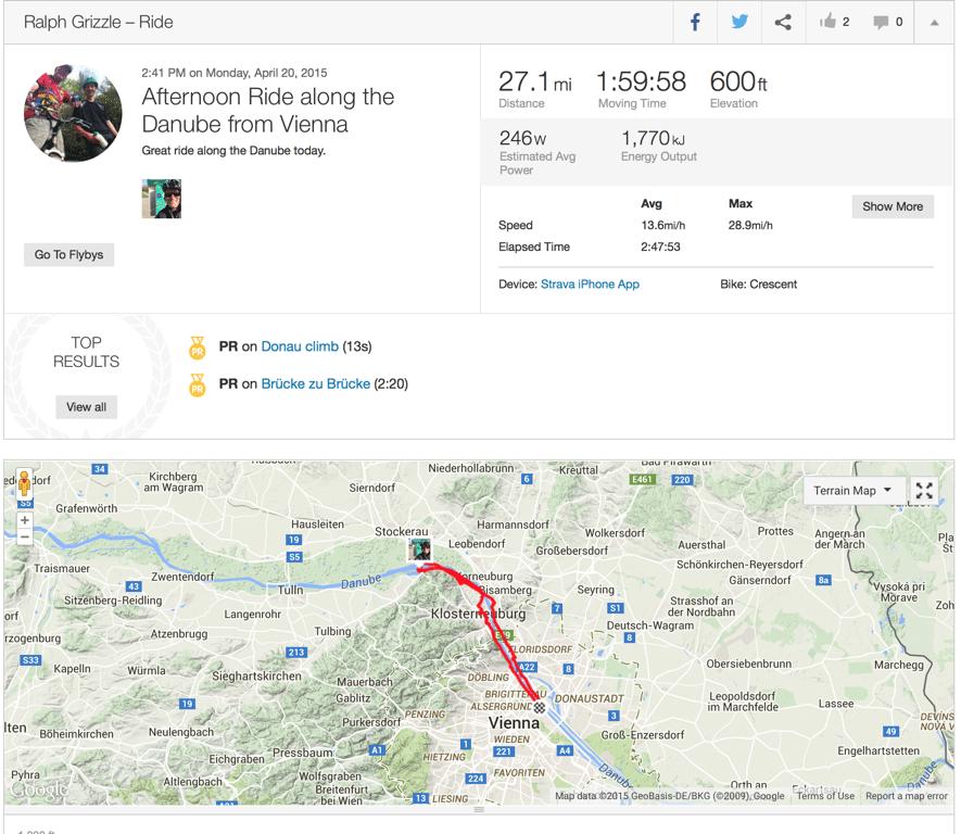 bike ride in vienna