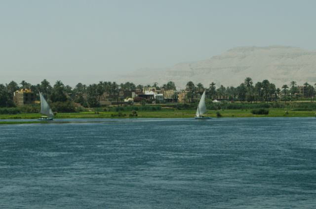 The Nile River, as seen on April 12, 2015. Photo © 2015 Aaron Saunders