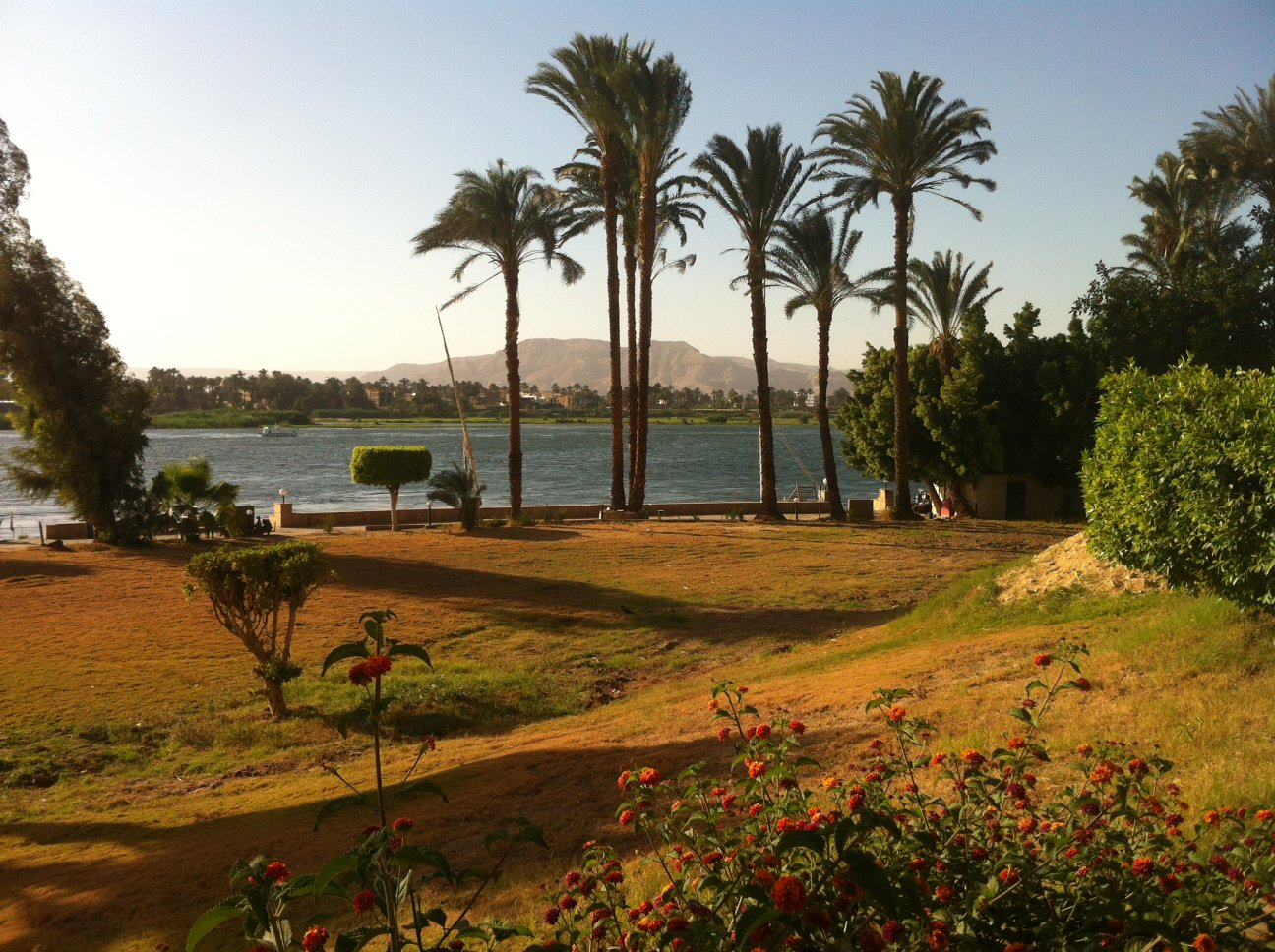 Another shot of the Nile River in Egypt. Despite difficulties in getting around, the journey here is well worth the effort. Photo © 2015 Aaron Saunders