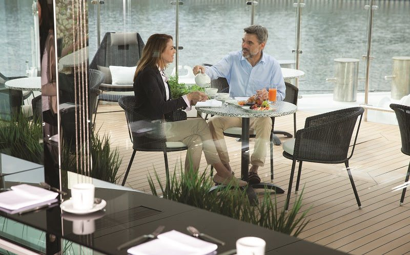 """The Terrace"" on Emerald Waterways' Ships. Photo Courtesy of Emerald Waterways."