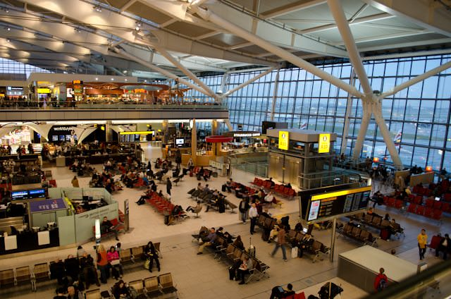 The attractive concourse area at London Heathrow's Terminal 5, utilised almost exclusively by British Airways. Photo © 2013 Aaron Saunders