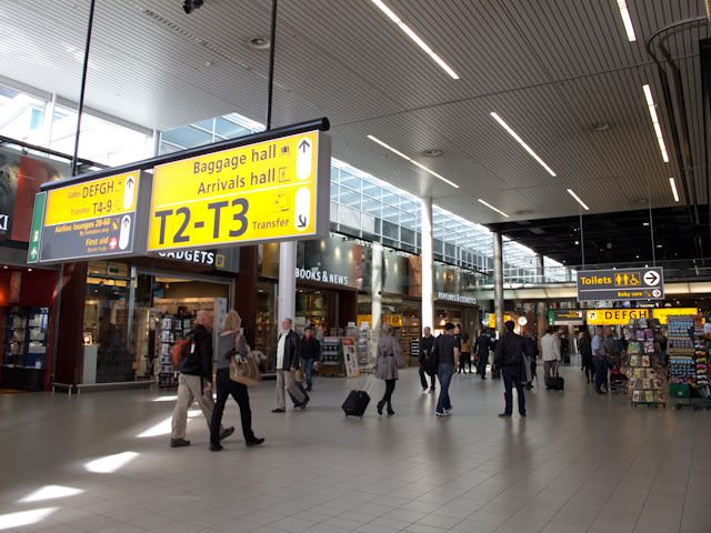 Amsterdam Airport Schiphol: big, clean, easy to get around. Watch out for the Polderbaan, though! Photo © 2013 Aaron Saunders