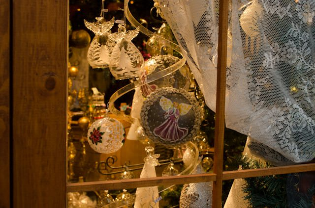 Hand-crafted ornaments and toys are prevalent at nearly every European Christmas Market. Photo © 2014 Aaron Saunders
