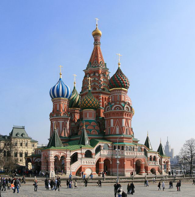 St. Basil's Cathedral is a major tourist attraction in Moscow. Photo courtesy of Wikipedia / Creative Commons