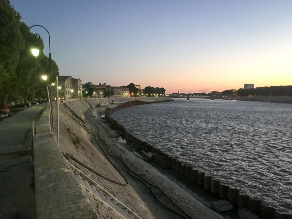 Sunset on the Rhone in Arles. © 2015 Ralph Grizzle