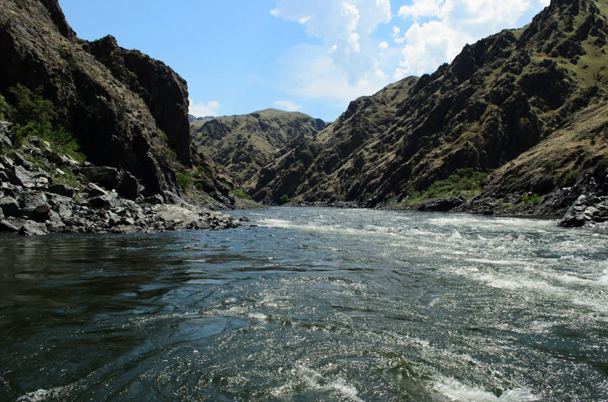After lunch, it was back onboard the jetboat to go even deeper into Hell's Canyon. Photo © 2015 Aaron Saunders