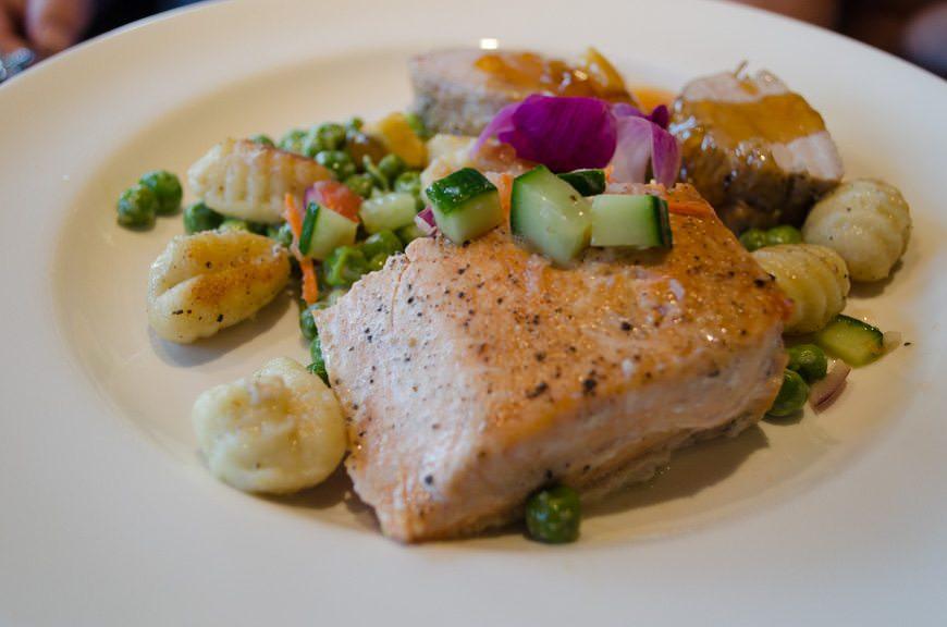 ...some amazing food...Photo © 2015 Aaron Saunders