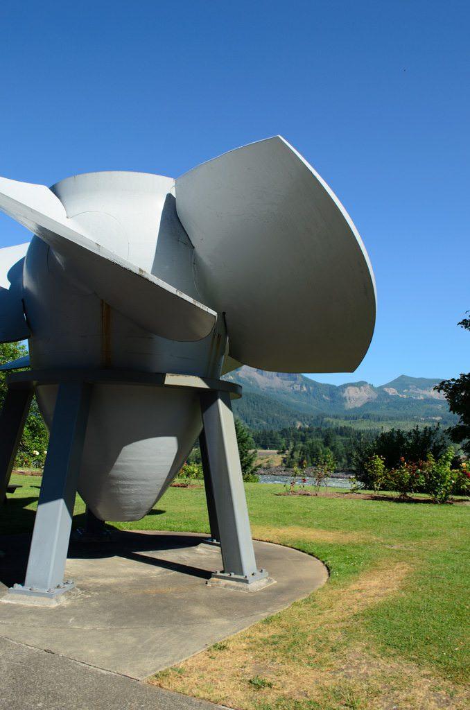 Turbine blades as art installation. Photo © 2015 Aaron Saunders