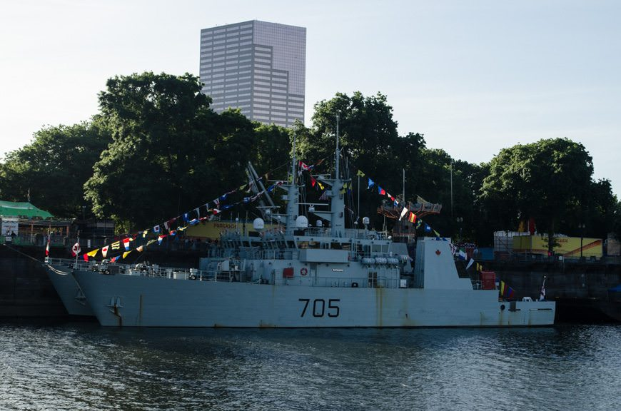 It's Fleet Week here in Portland - and even the Canadian Navy has come out to play. Photo © 2015 Aaron Saunders