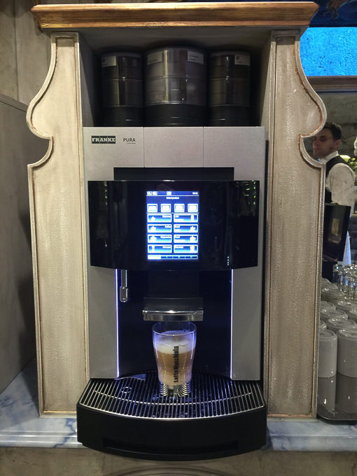 Uniworld's coffee machine. © 2015 Ralph Grizzle