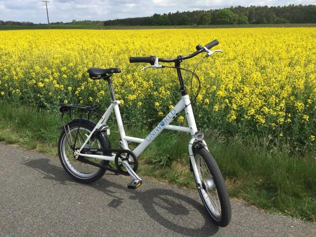 """Uniworld's bikes fit me fine, even at 6'5"""". © 2015 Ralph Grizzle"""
