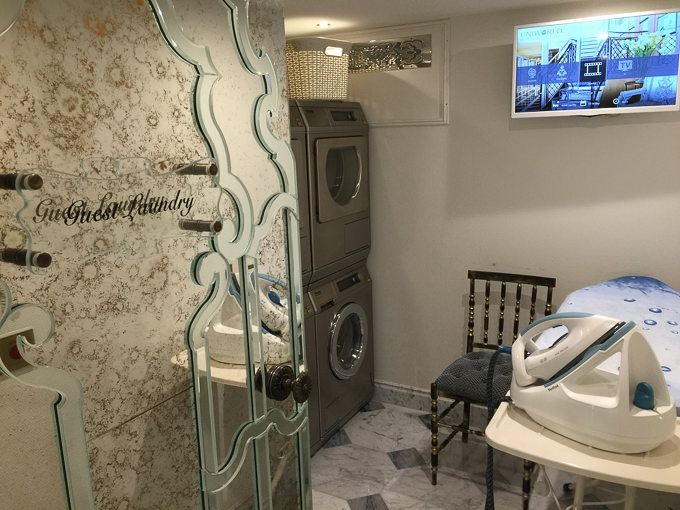 Uniworld's Maria Theresa featured launderettes for complimentary use. © 2015 Ralph Grizzle