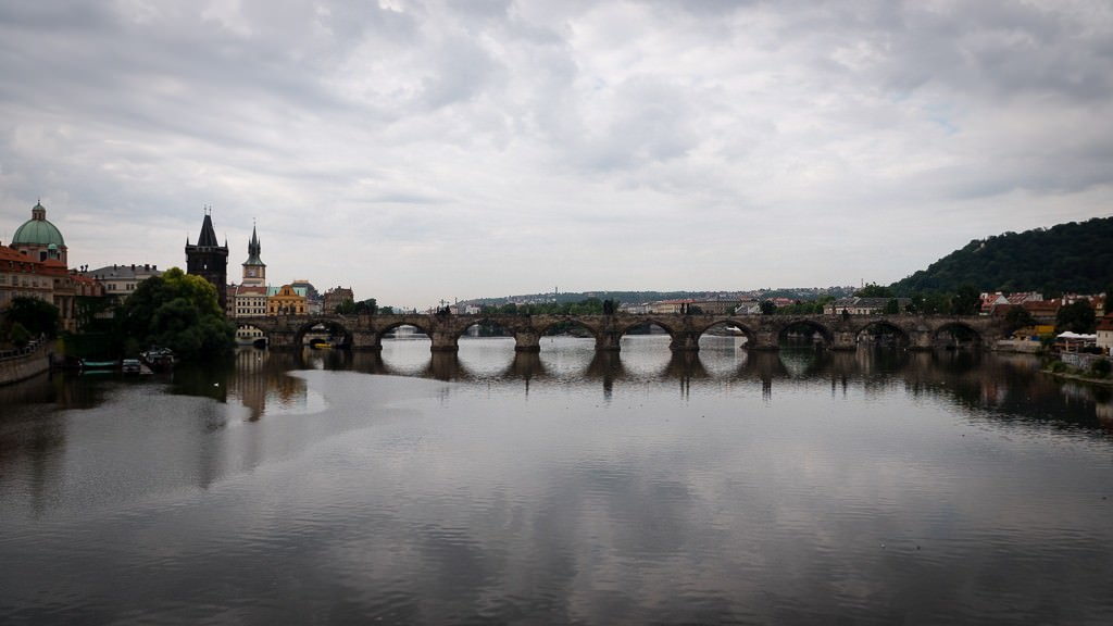 Prague's iconic Charles Bridge