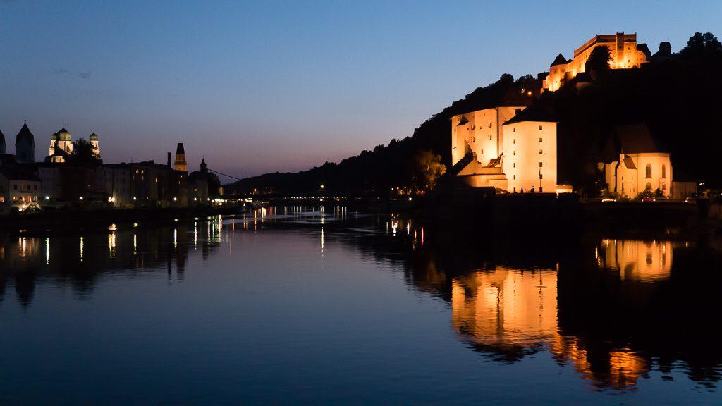 Passau at night