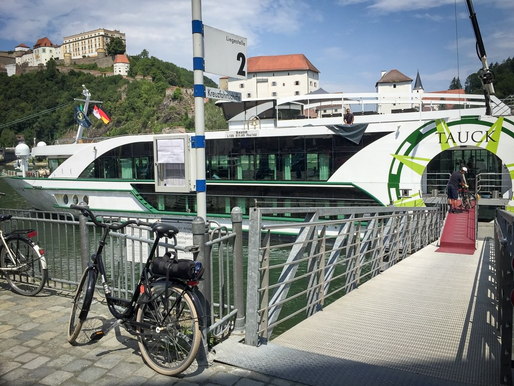 My bike in Passau. © 2015 Ralph Grizzle