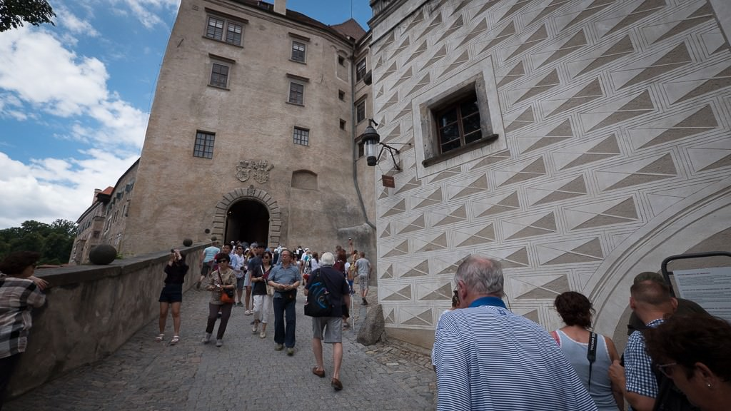 Uphill to Krumlov Castle. ©2015 Ralph Grizzle