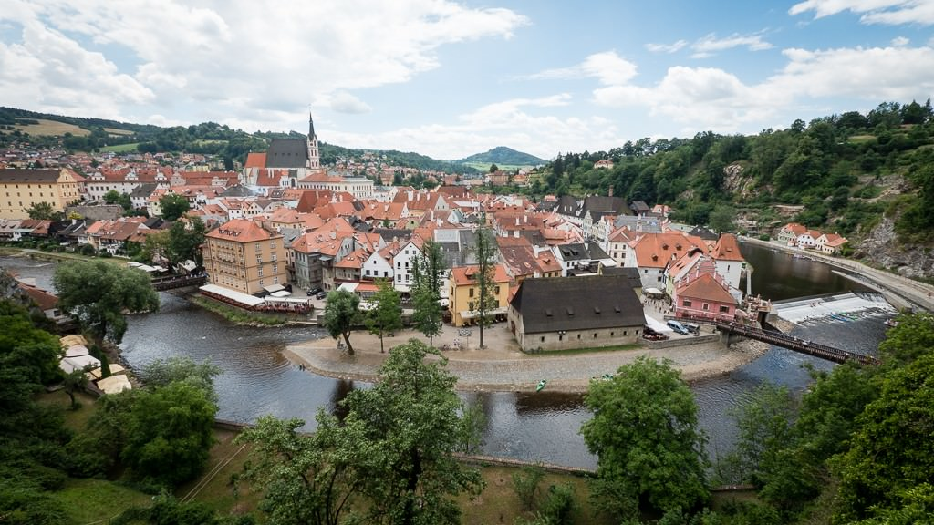 Cesky Krumlov from Krumlov Castle. ©2015 Ralph Grizzle