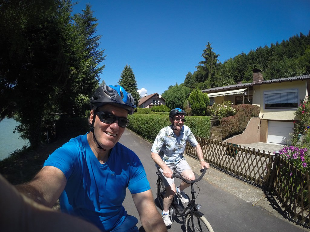 Peter and I cycling 70 kilometers today. © 2015 Ralph Grizzle