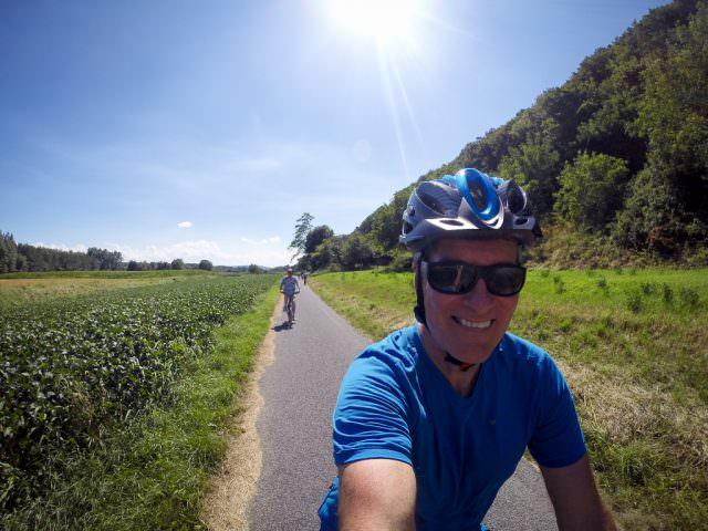 Cycling through Wachau Valley. © 2015 Ralph Grizzle